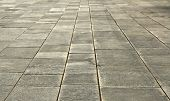 pic of stone floor  - big stones floor promenade perspective on horizontal view