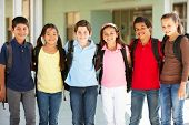 stock photo of pre-teens  - Pre teen children at school - JPG