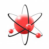 Illustration Of Atom, Nuclues, Proton, Neutron & Electron