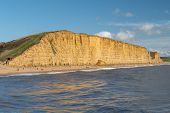 East Cliff At West Bay In Dorset poster