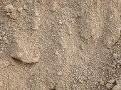Soil Brown Color From The Garden. Soil Texture Background poster