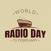World Radio Day Vector Background With Radio Vector. World Radio Day Vector Element Design. Vector I poster