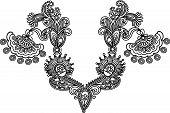 Neckline Embroidery Fashion poster