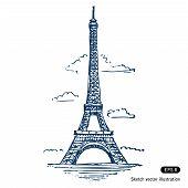 Постер, плакат: Эйфелева башня в Париже