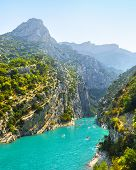 Verdon Gorge, Provence, France. View On The River Verdon From The Top Of The Verdon Gorges. France poster