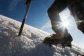 stock photo of mountain-climber  - Mountain climber - JPG