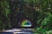 image of gatlinburg  - Tunnel in the mountain - JPG