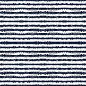 Indigo Chevron Vector Seamless Pattern. Maroon Drawn Strip African Texture. Surf Shibori Stripe Desi poster