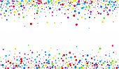 Color Confetti Vector Backdrop. Celebration Dust Texture. Celebration Postcard. Yellow Shine Top Pos poster
