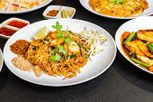Pad Thai Or Phad Thai, Is A Stir-fried Rice Noodle Traditional Dish Served As A Street Food In Thail poster