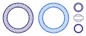 Double Circle Frame Composition Of Small Circles In Variable Sizes And Color Tinges, Based On Double poster
