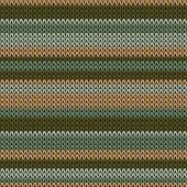 Woolen Horizontal Stripes Christmas Knit Geometric Vector Seamless. Jumper Knitwear Fabric Print. No poster
