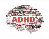 foto of trauma  - ADHD symbol design isolated on white background - JPG