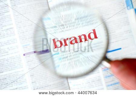Magnifying Brand Word