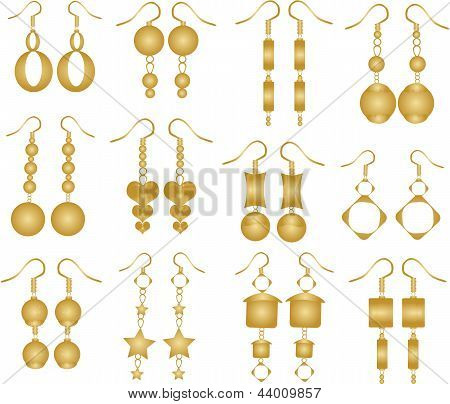 Set Of Golden Earrings