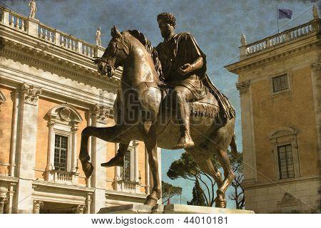 Equestrian Statue of Marcus Aurelius - Vintage