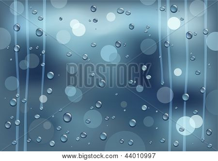 rainy glass