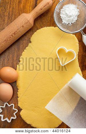 Fabricación de galletas de azúcar con galletas