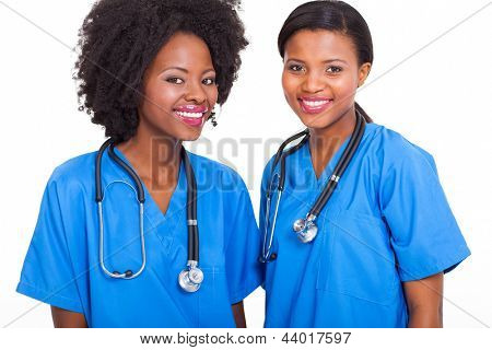 beautiful afro american interns nurses