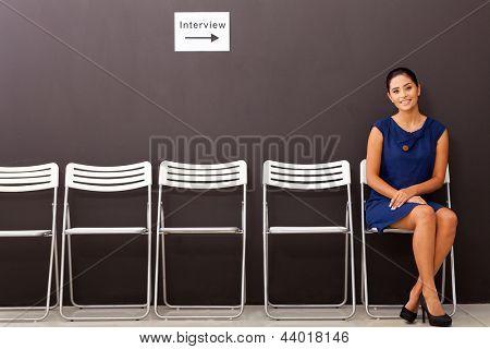 beautiful businesswoman waiting for job interview