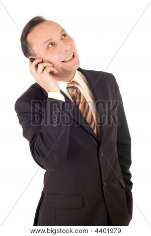 Businessman Phoning