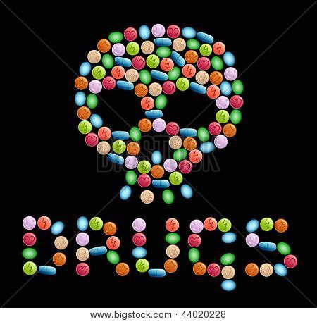 Drugs with a skull