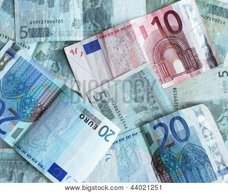 Used Euro money