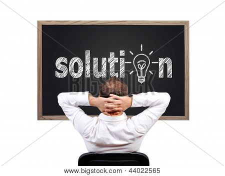 Blackboard With Solution