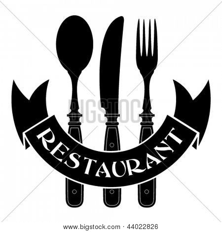 knife, fork and spoon / Restaurant Seal
