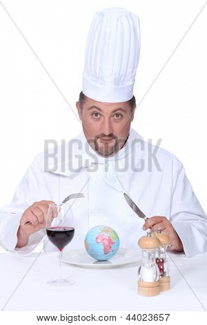 chef eating