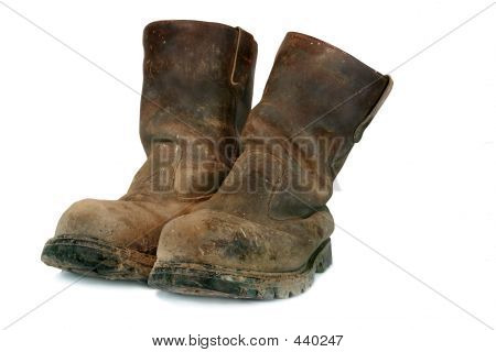 Dirty Old  Builders Boots