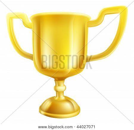 Gold Trophy Illustration