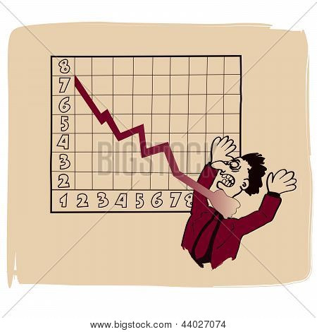 When the numbers become a nightmare - vector cartoon