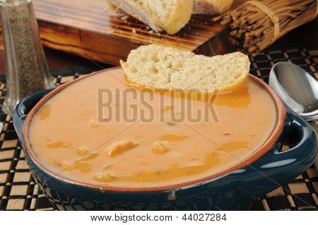 Creamy Gouda Cheese Bisque