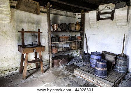 Vintage Farm Interior Kommandorgaard, On Romo