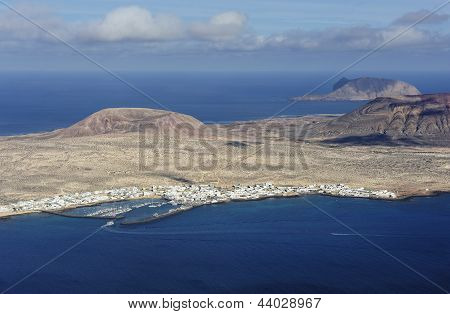View Of Caleta De Sebo Town On Graciosa Island, Canary Islands, Spain