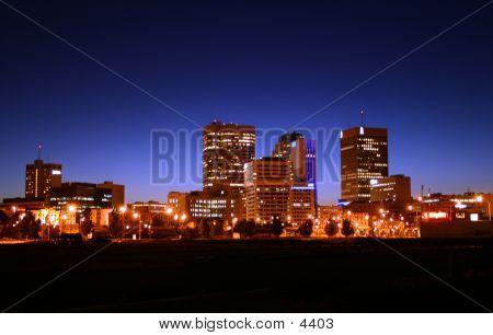 Winnipeg Skyline At Night