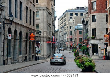 MONTREAL, CANADA - SEP 8: City street view on September 8, 2012 in Montreal, Canada. It is the largest city in Quebec, the second-largest in Canada and the 15th-largest in North America.