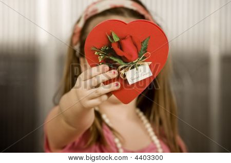Young Girl With Valentine