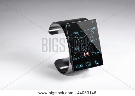 Internet moderno relógio inteligente sobre um fundo cinzento