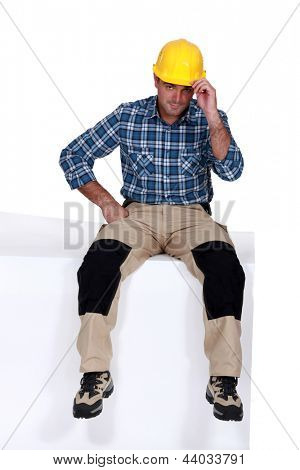 Portrait of a charismatic tradesman