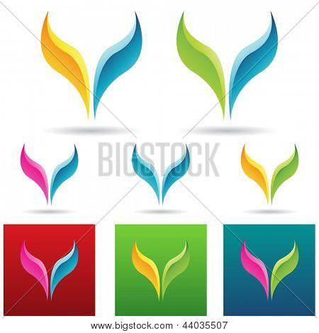 vector eps illustration of colorful fish tails