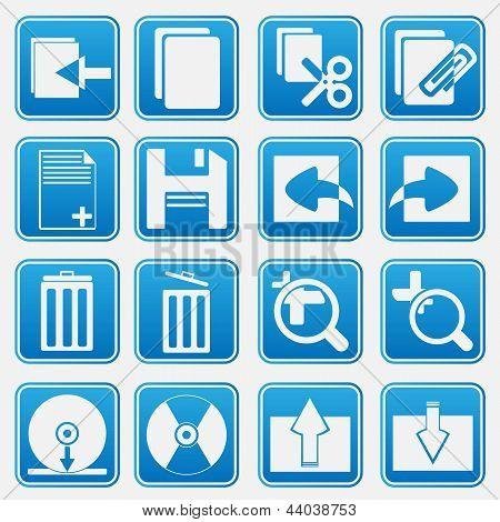 Computer Icon Set Blue Style