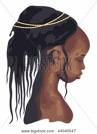 silhouette African woman