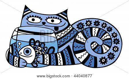 gato com aquário