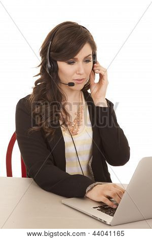 Laptop Secretary Listen