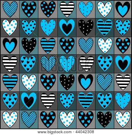 background with decorative hearts