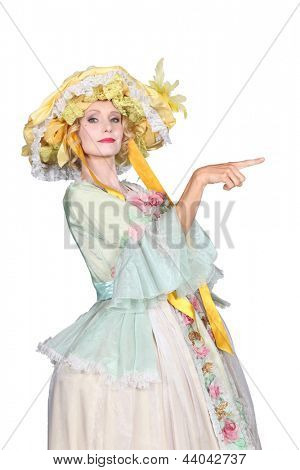 Woman in old fashioned costume