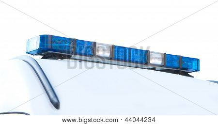 Police Emergency Lights With Blue Surrounding Light