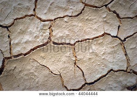 Dry Desert Cracked Ground Background
